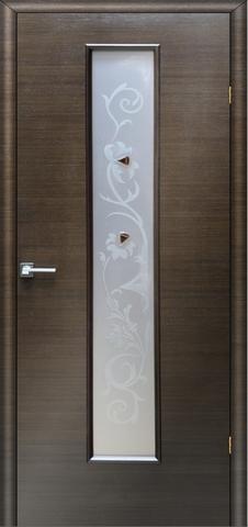 Дверь Ника 2 ПО «фьюзинг» (венге, остекленная шпонированная), фабрика LiGa