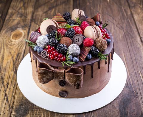Заказной торт - 23 Февраля.