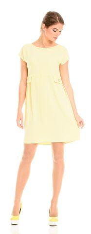 Фото желтое платье с завышенной талией и пышной юбкой - Платье З106а-313 (1)