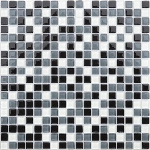 Мозаика стеклянная с камнем Baikal 15x15x4 305х305