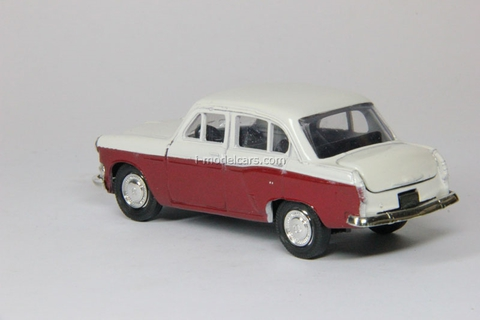 Moskvich-403 two color white-darkred Agat Mossar Tantal 1:43