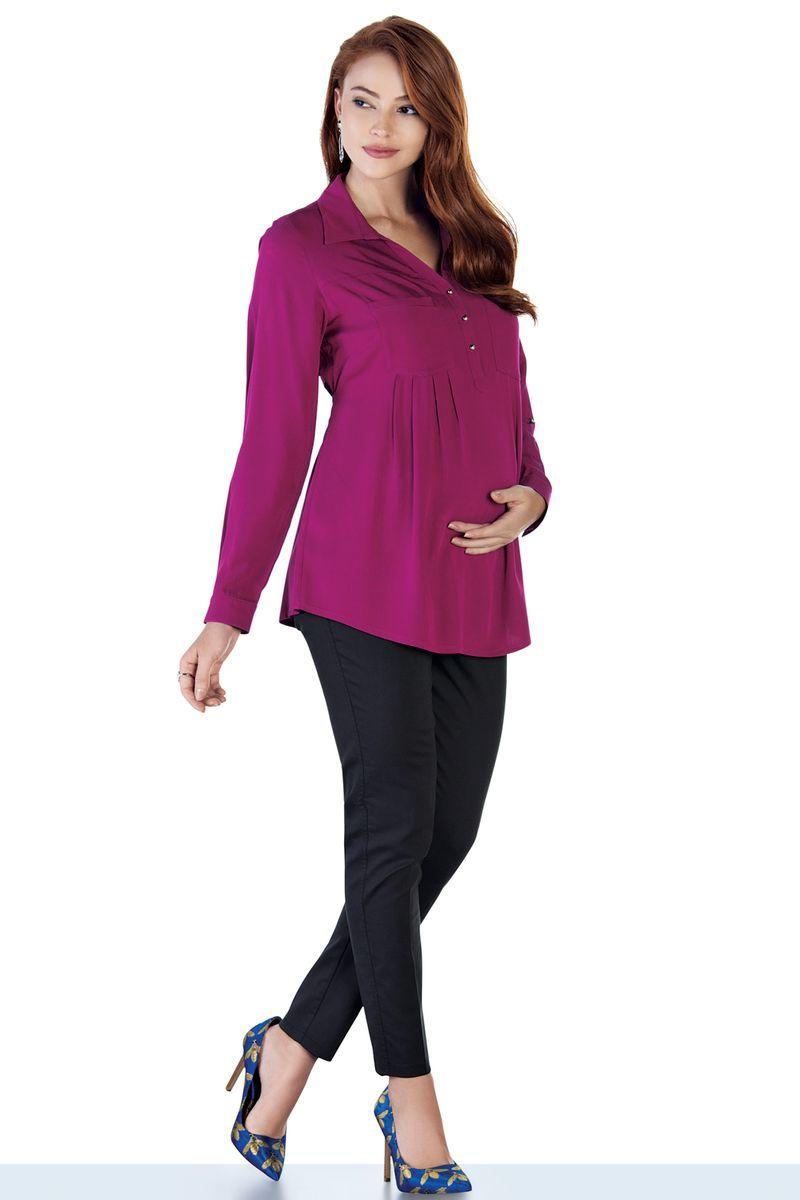 Блузка для беременных 09105 малиновый