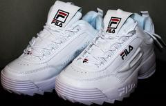 Красивые кроссовки Fila Disruptor 2 all white RN-91175