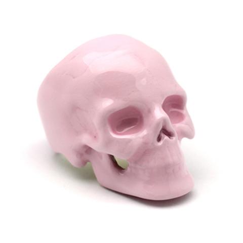 Кольцо Череп (розовый кварц)