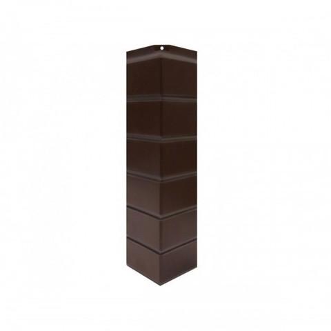 Угол наружный к Фасадным Панелям Norside (Нордсайд) Гладкий Кирпич Темно-коричневый