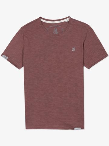 Мужская футболка «Великоросс» бордового цвета