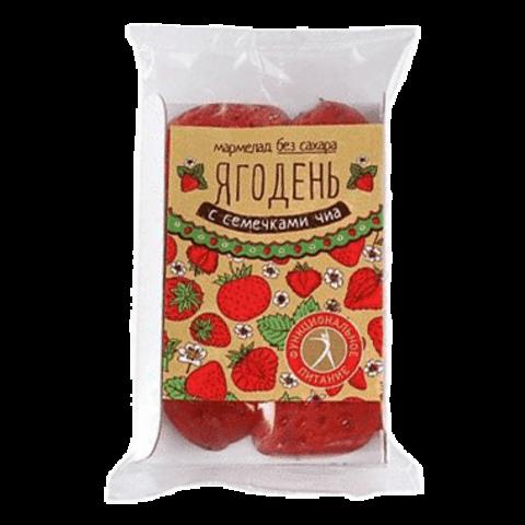 Вкус Сибири Ягодень клубничный с семенами чиа 140 г
