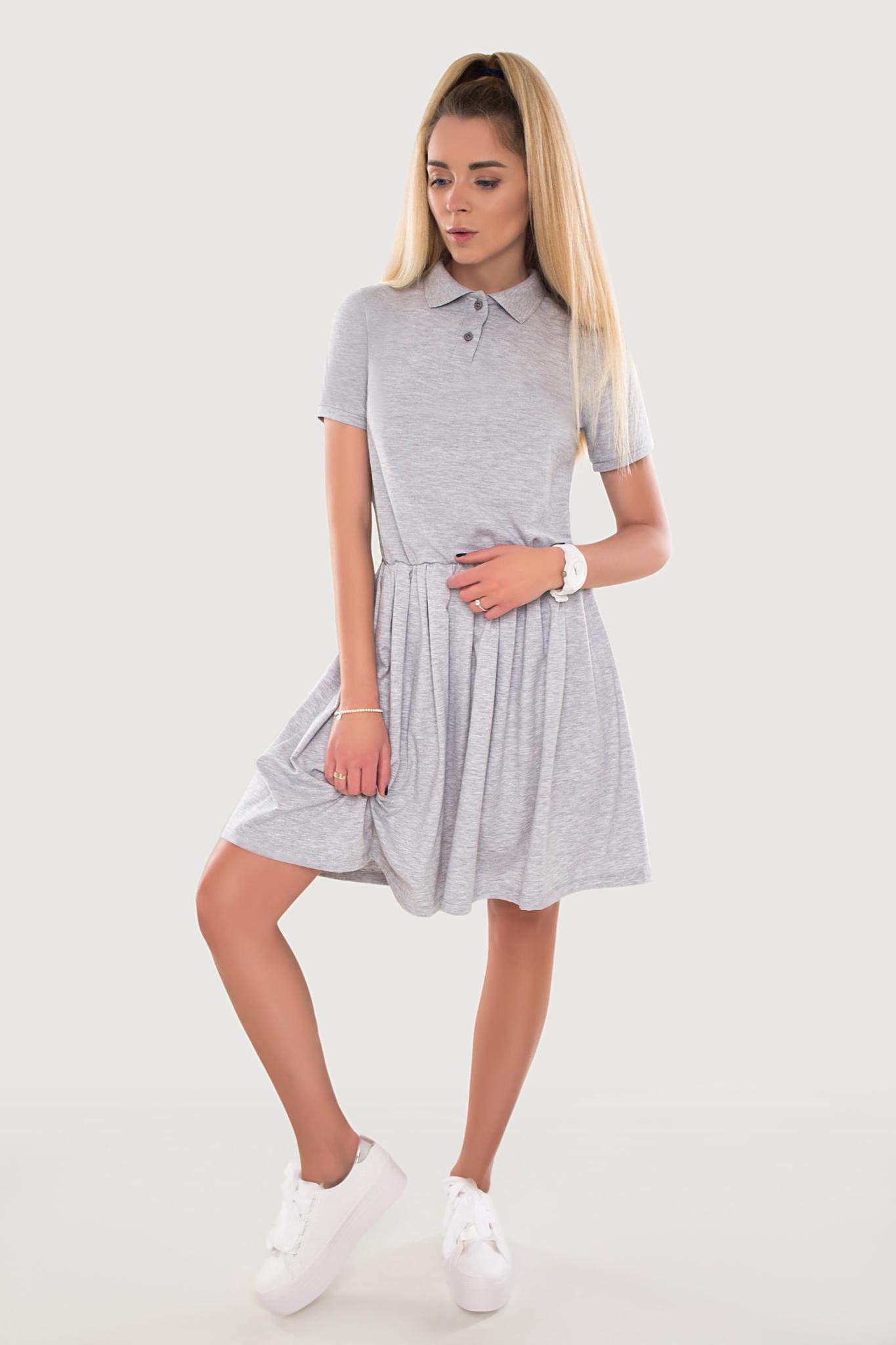 Платье Polo серое YOS