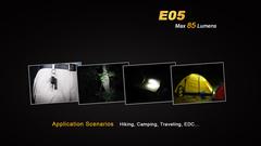 Карманный фонарик Fenix E05 Черный