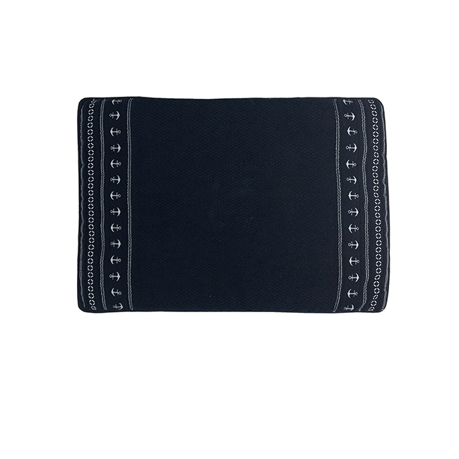 Santorini non-slip bathmat anchors / blue navy