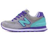Кроссовки Женские New Balance 574 Grey Mint Violet
