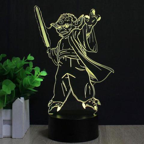 Ночник Йода со световым мечом