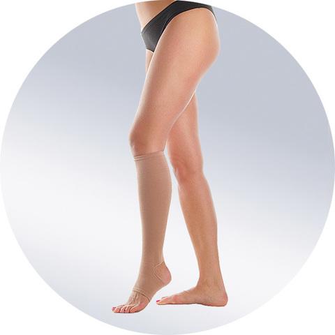 Бандаж-чулок на одну ногу до колена (модель 503)