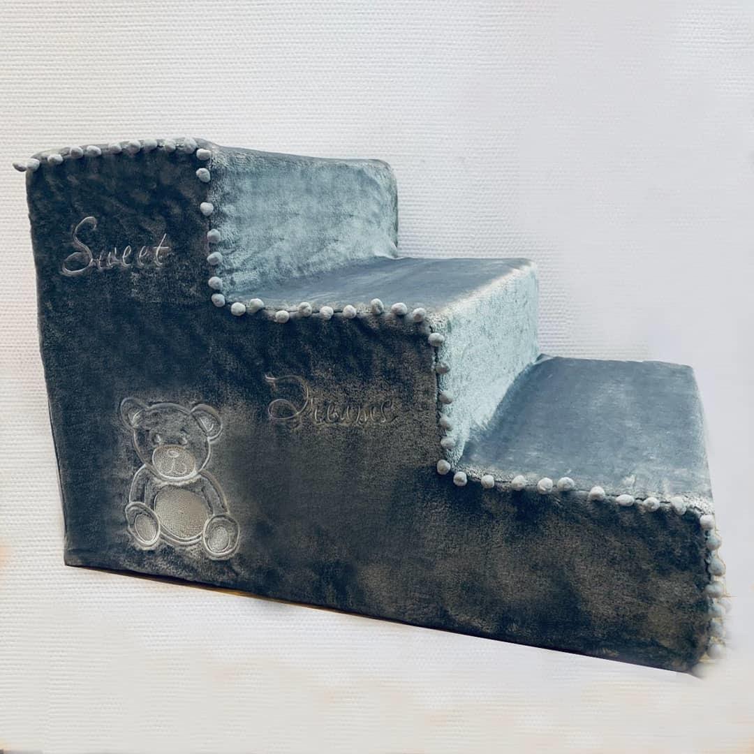 1890 ступеньки для собак Мишка темно-серые