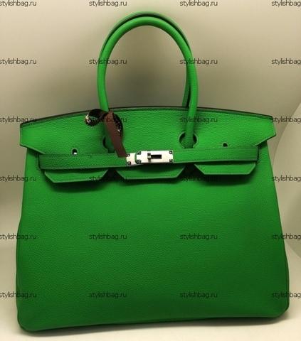 Женская зеленая сумка Hermes Birkin 35 togo green
