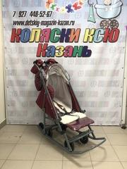 Санки коляска PIKATE Звезды «Бордо»