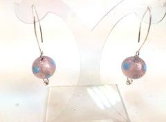 Серьги Perla Grazia розовые pois (Pink Pois)