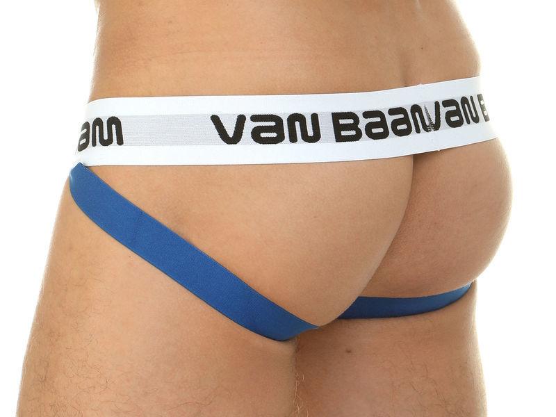 Мужские трусы джоки в разноцветную полоску Van Baam 39822