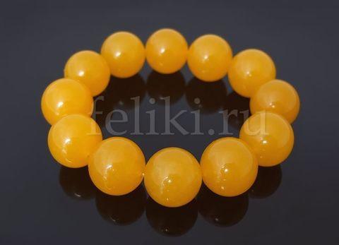 браслет из жадеита жёлтый_фото