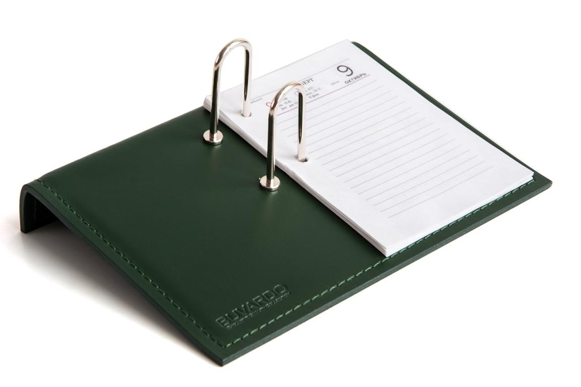 зеленая настольная  календарница в набор бювардо