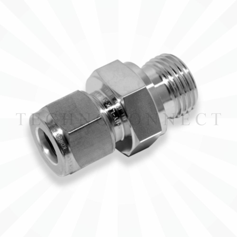 COM-8M-4G  Штуцер для термопары: метрическая трубка 8 мм- резьба наружная G 1/4