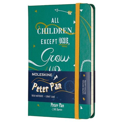 Блокнот Moleskine Limited Edition PETER PAN LEPN01AMM710 Pocket 90x140мм 192стр. линейка Indians
