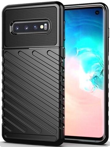 Чехол Samsung Galaxy S 10 цвет Black (черный), серия Onyx, Caseport