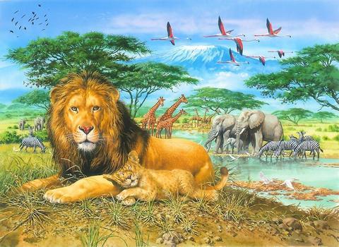 Картина раскраска по номерам 40x50 Животный мир