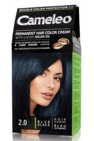 CAMELEO крем краска для волос тон 2.0 черно голубой (Delia cosmetics)