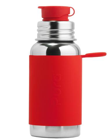 Стальная спортивная бутылочка  для детей и взрослых Pura Kiki 550 мл КРАСНЫЙ