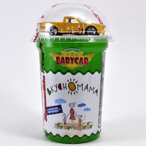 """Кукурузные шарики в глазури """"Babycar"""" с игрушкой Вкусномама, 30г"""