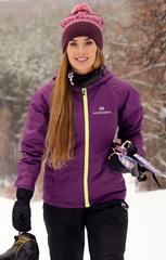 Утеплённая прогулочная лыжная куртка Nordski Motion Purple женская
