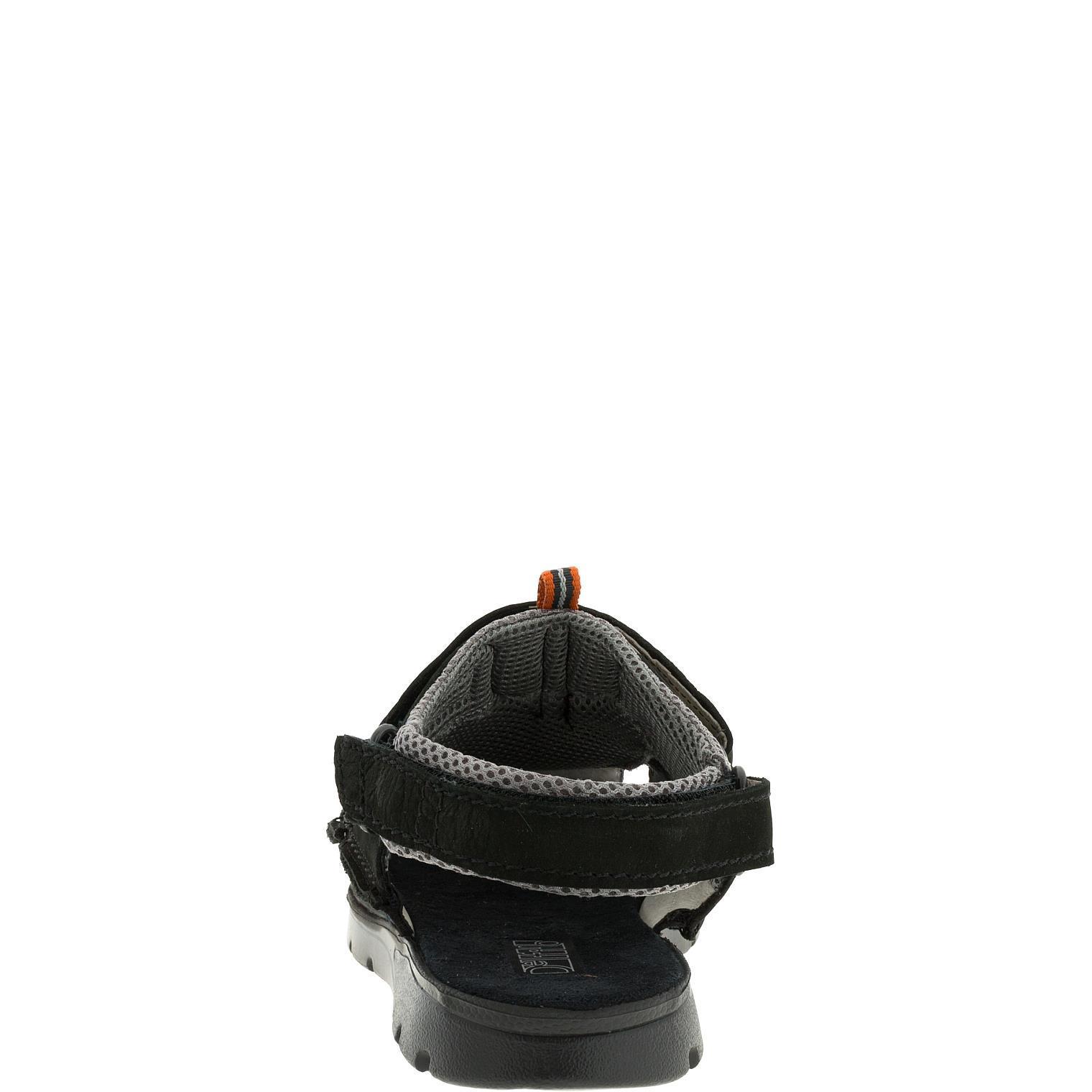 585285 сандалии мужские черные больших размеров марки Делфино