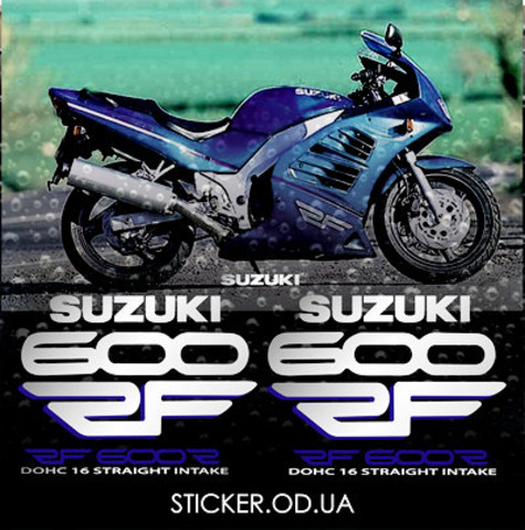 Набор наклеек на мотоцикл Suzuki RF 600R, 1996