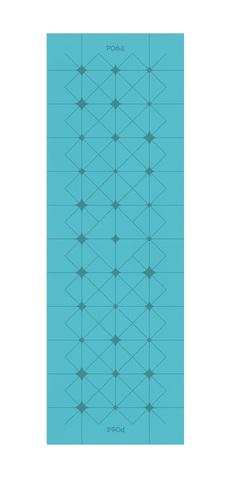 Коврик для йоги с разметкой Align Emerald Crystal 183*61*0,6 см