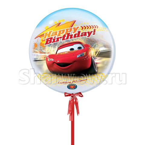 Прозрачный шар бабл по мотивам мультфильма Тачки, 56 см