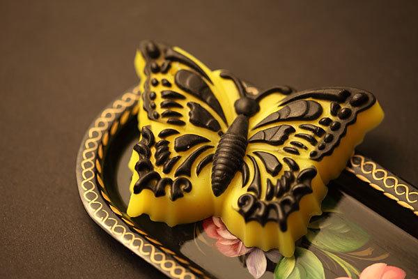 Мыло Бабочка. Ручная работа по форме