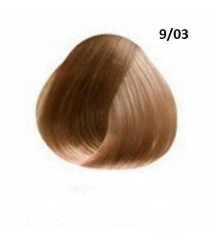 Перманентная крем-краска для волос Ollin 9/03 блондин прозрачно золотистый
