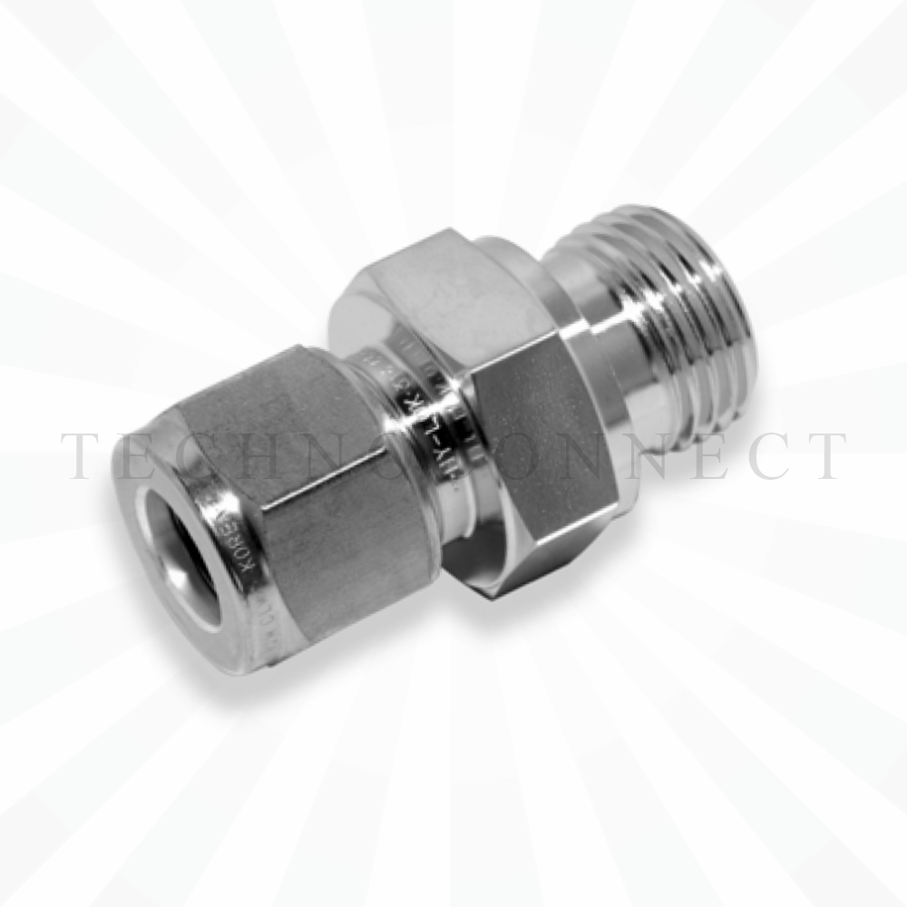 COM-8M-12G  Штуцер для термопары: метрическая трубка 8 мм- резьба наружная G 3/4