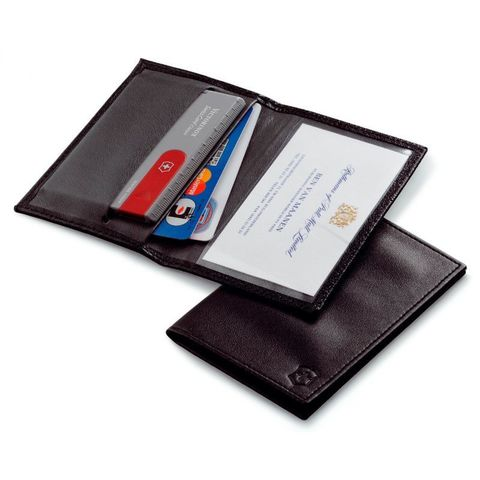 Чехол Victorinox (4.0873.L) для SwissCard черный кожа