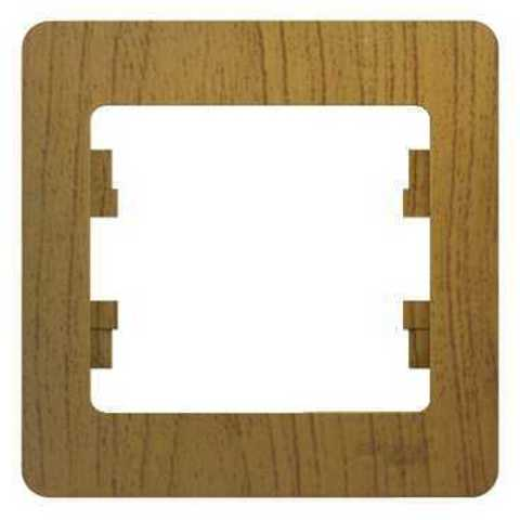 Рамка на 1 пост. Цвет Дуб. Schneider Electric Glossa. GSL000501