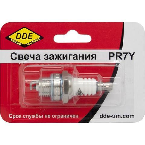 Свеча зажигания DDE - PR7Y (Champion RCJ7, Bosch WR11EO, NGK BR2LM) бензопилы, триммеры, мотобуры свыше 30 куб.см.