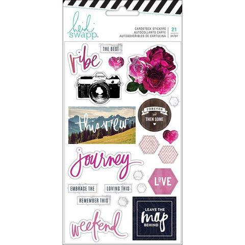 Стикеры Heidi Swapp Hawthorne Cardstock Stickers- 21шт.
