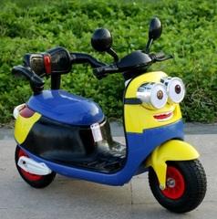 Электромобиль детский скутер трехколесный Миньон