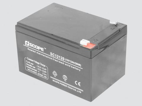 Аккумулятор свинцово-кислотный 12V,12Ah SC-12120 151*98*95мм