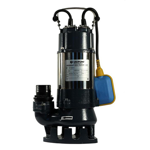 Насос фекальный UNIPUMP FEKAPUMP V1100 F - 1,1 кВт (однофазный, Hmax 9м, Qmax 333л/мин,кабель 6м)