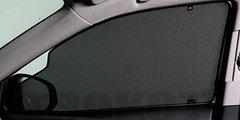 Каркасные автошторки на магнитах для Geely Emgrand EC7 (2009+) Хетчбек. Комплект на передние двери с вырезами под курение с 2 сторон