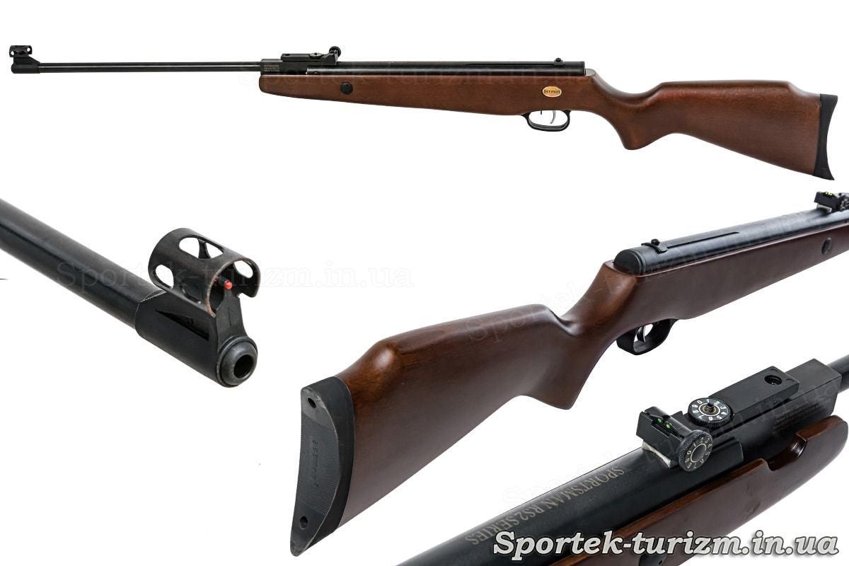 Ствол, приклад, прицел пневматической винтовки Beeman RS2