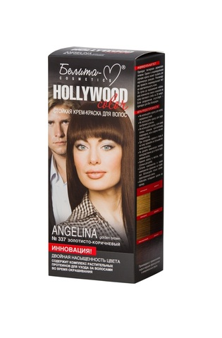 Белита-М Hollywood Color Крем-краска 337 Анджелина (золот.-корич.)