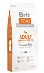 Корм для собак средних пород, Brit Care Adult Medium Breed, с ягненком и рисом